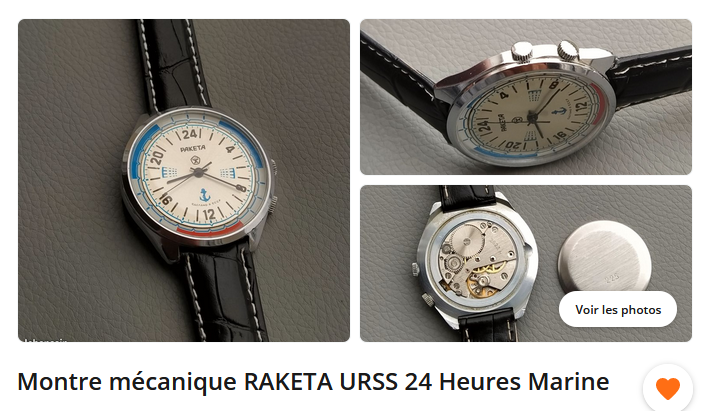 Avis sur deux RAKETA 24h Raketa10
