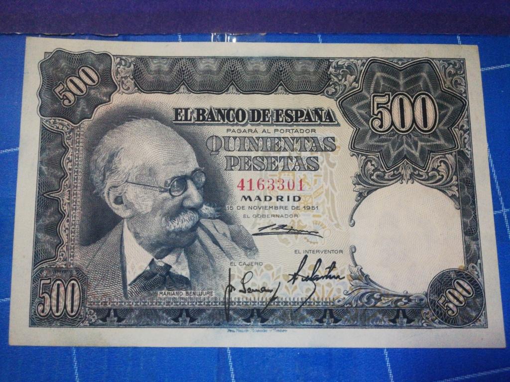 500 Pesetas 1951 (Mariano Benlliure) 16033013