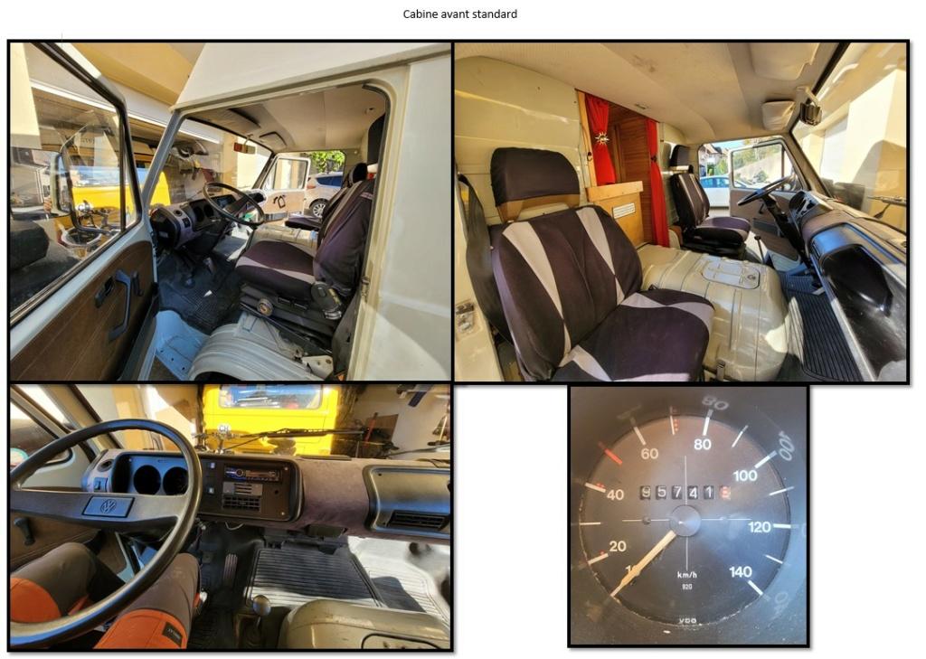 VENDU _ VW LT 35 (VW 281 CH) / 2 litres essence / 1978 Cabine11