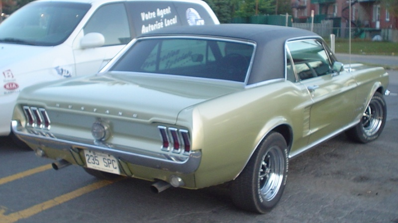 Ma Mustang 1967, 200ci Gilles10