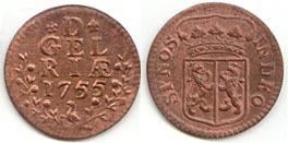 DUIT de 1755 de la ceca de Gante - Gelderlandia Duit_g10