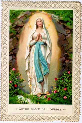 medalla Nuestra Señora de Lourdes Lourde10