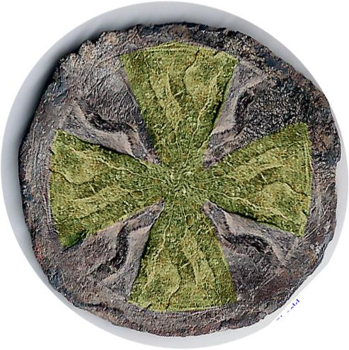 Pellofa de plomo con cruz Pellof10