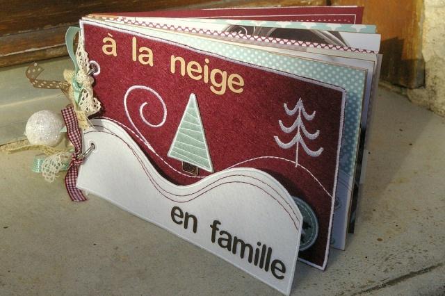 """Mini album feutrine: """"La neige en famille"""" Debout10"""