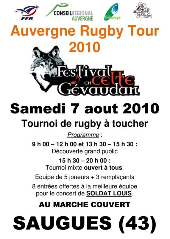 L'Auvergne Rugby Tour Affich10