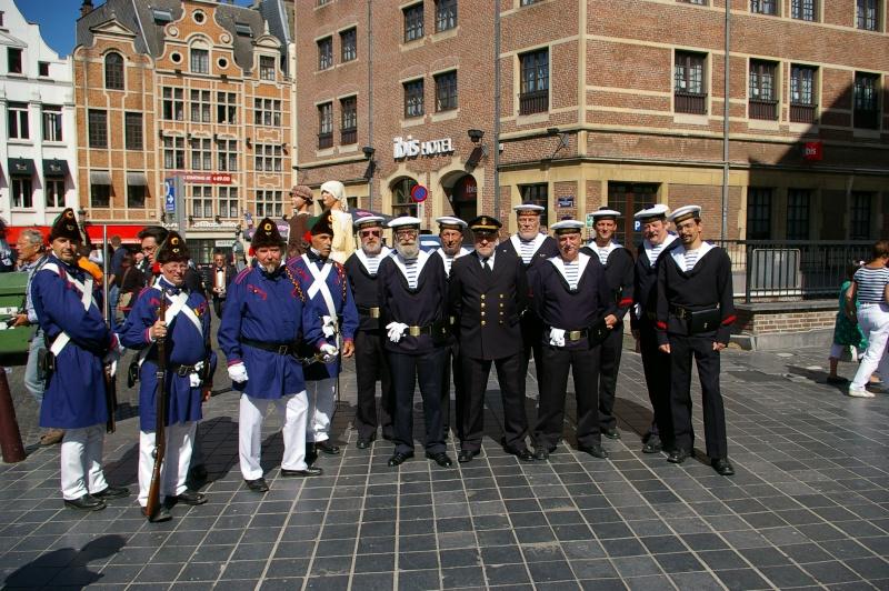 Le corps des torpilleurs et marins, lors de la Manneken-pils Copie_10