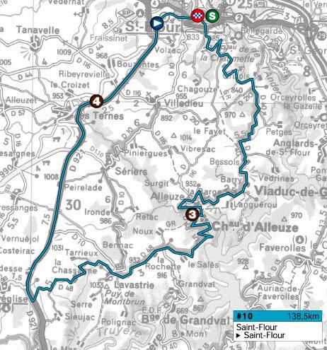 Histoire du Tour de l'Avenir dans le Cantal Avenir10