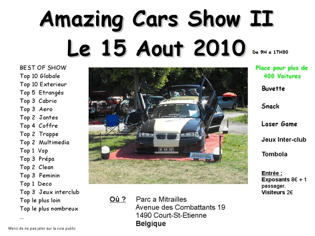 Amazing Cars - 15/08/2010 Fliers10