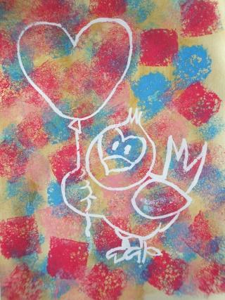 peinture éponge + drawing-gum Eponge10