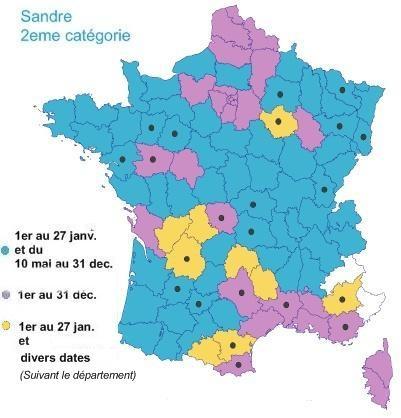 Carte de France ouverture brochet et sandre 2008 Carte_11