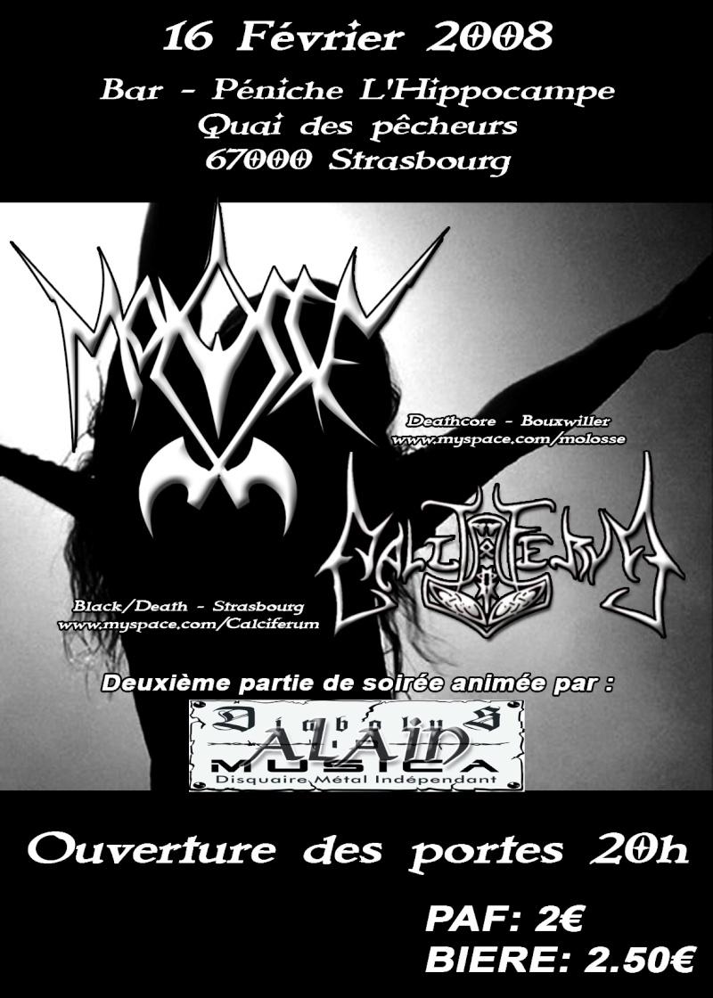 concert black métal plus dance floor black métal à l'hippo Flyer112