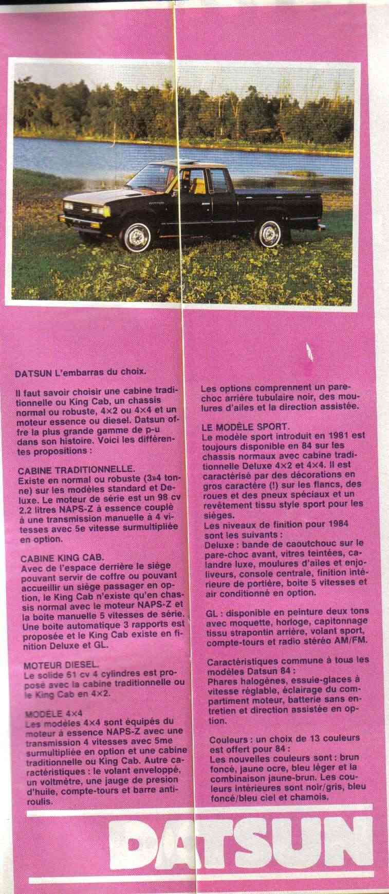 Topic officiel DATSUN pick up 720 KING CAB 2WD & 4WD King_c10