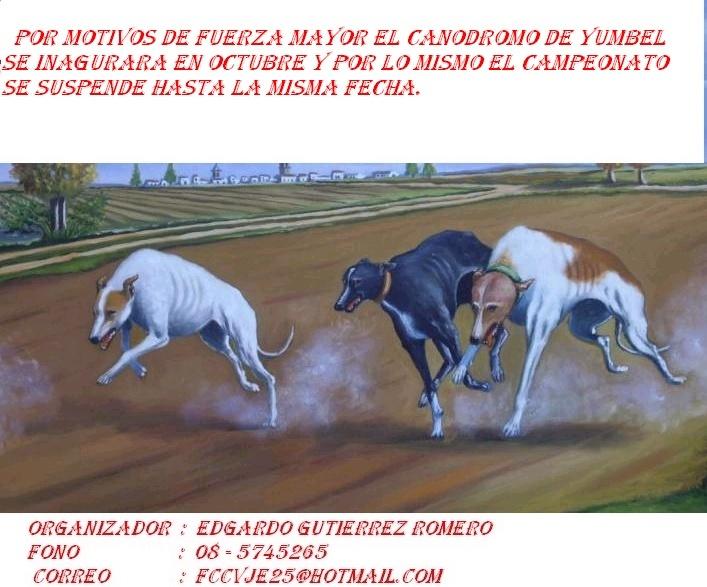 CAMPEONATO CACHORROS INAGURACION CANODROMO YUMBEL Dibujo12
