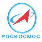 Le logo de Roscosmos sur fond bleu Logo_r11