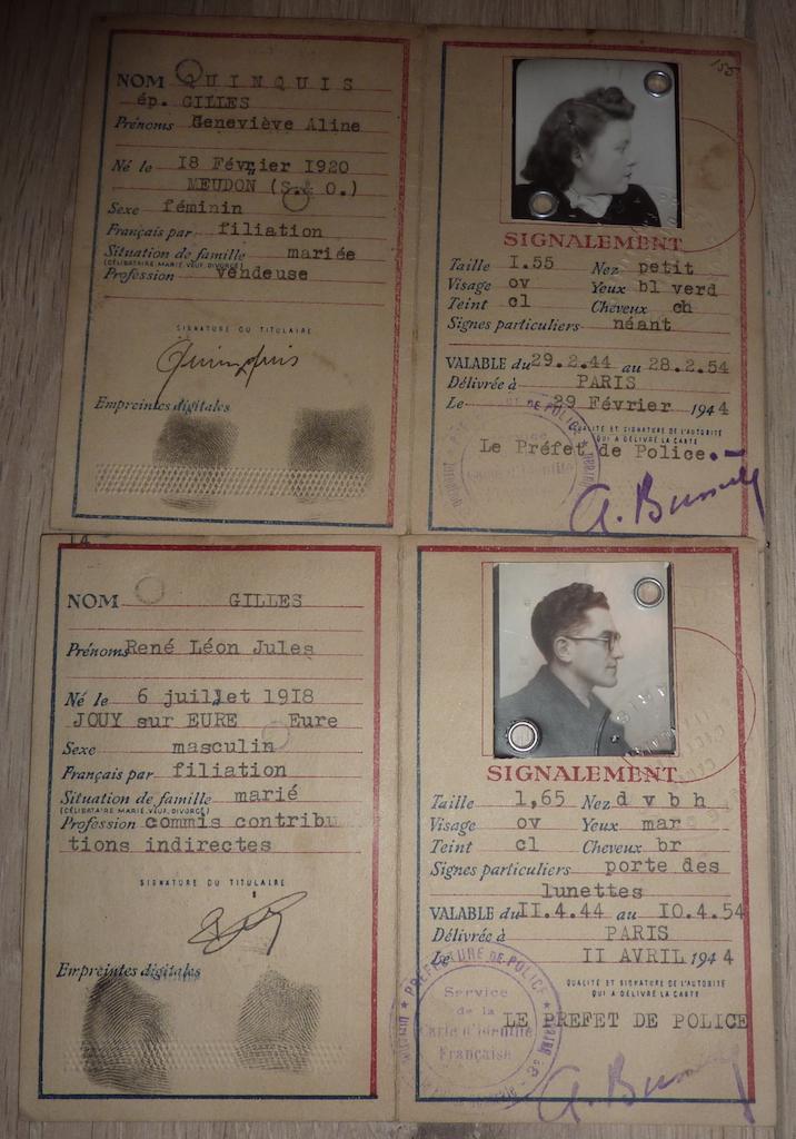petit lot de papiers et cartes d'identité époque Vichy, CJF P1060140