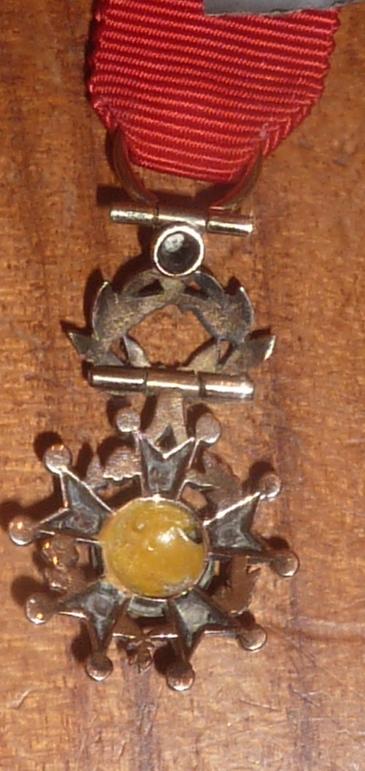 réduction de légion d'honneur en or et diamants  P1060222
