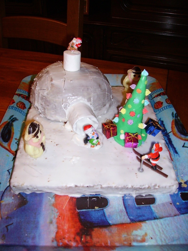 banquise, igloos, pingouins et Grand Nord Gateau10