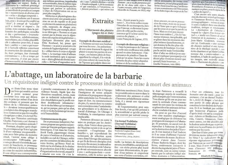 Article paru dans le Monde le 11 janvier 2008 File0010