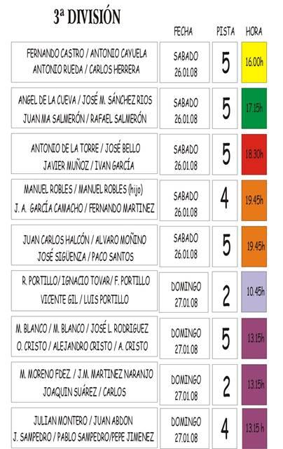 10 JORNADA 26/01/08 y 27/01/08 MASC.-3 DIVISIÓN-PISTA Y HORA Copia_14