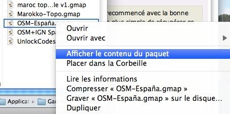 Créer un fichier GMAP ou GMAPI à partir d'un fichier OSM img sous mac OSX Captu107
