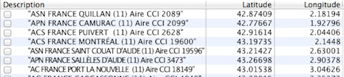 Perdu dans le choix aires pour CC pour Nuvi 2797 LMT Captur45