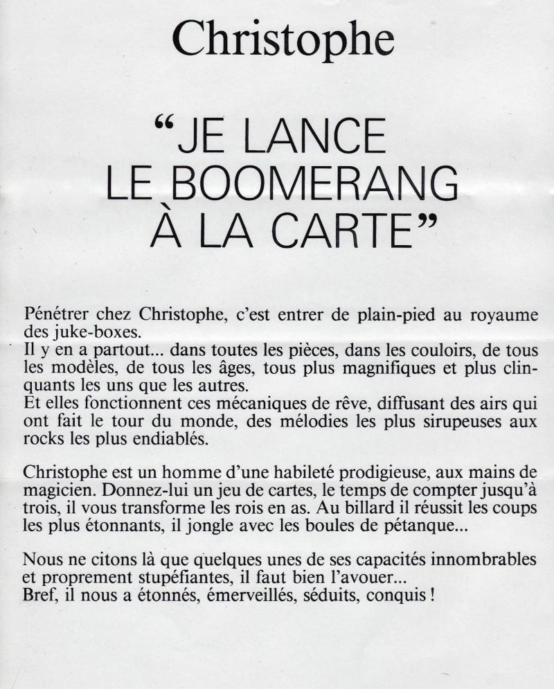"""Christophe """" je lance le boomerang à la carte"""" Tiré de : les paris de TF1 1981. Image034"""