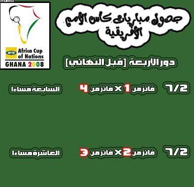 جدول كأس أمم أفريقيا 2008 في غانا 16021510