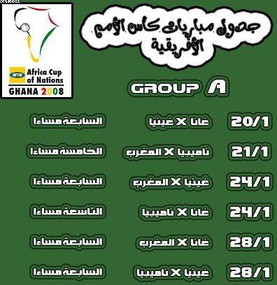 جدول كأس أمم أفريقيا 2008 في غانا Get-1-10