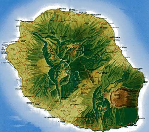 Le piton de la Fournaise sur l'île de la Réunion Carte_10