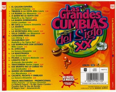 LAS GRANDES CUMBIAS DEL SIGLO XX CD Cumbia10