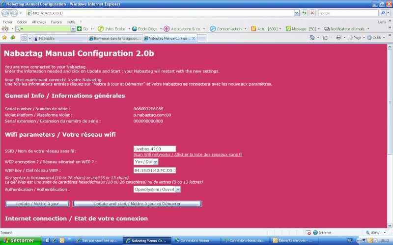 Sais pas quoi faire après config du lapin avec LiveBoxOrange Config10