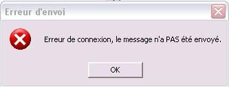 Problème envoi de sms Erreur10
