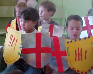 L\'origin du blason catalan Nens10
