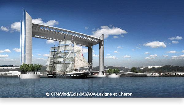 Pont Jacques Chaban-Delmas à Bordeaux - France Pont-b11