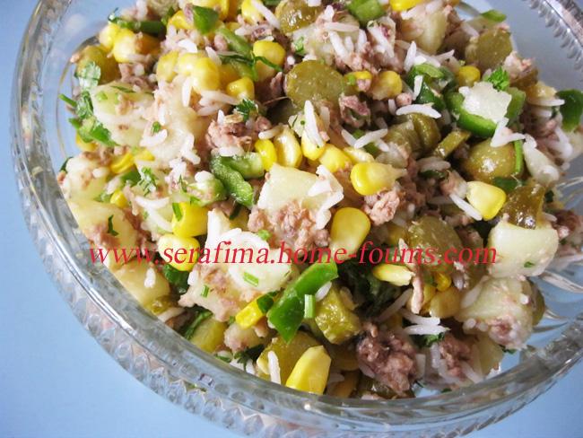 Салат с тунцом, кукурузой и оливками Img_0316