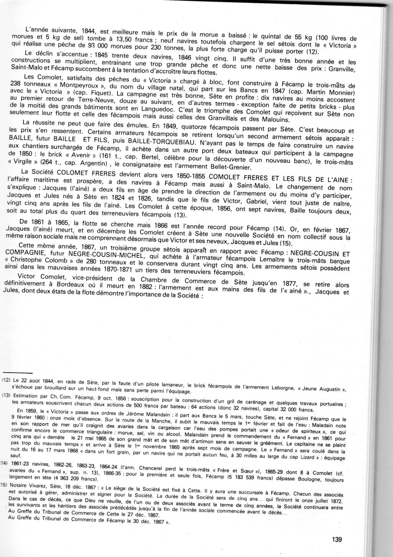 Morue, sel et vin : l'occasion d'armements sétois à Fécamp au XIXe siècle Img12010