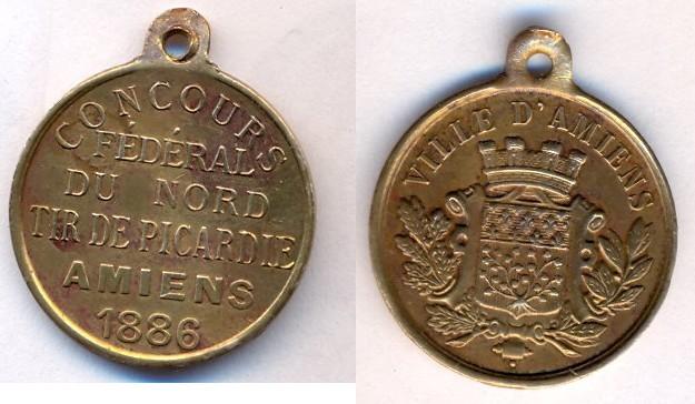 Ville d'Amiens - 1886 - Concours Fédéral du Nord - Tir de Picardie Scanne11