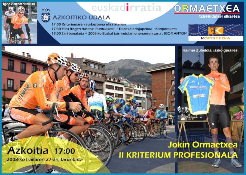 II JOKIN ORMAETXEA KRITERIUM PROFESIONALA Kartel11