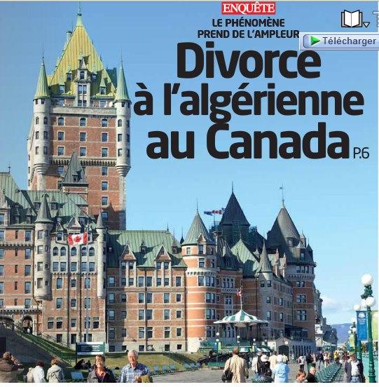 Divorce à l'algérienne au Canada: Le phénomène prend de d'ampleur  110