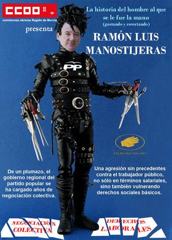 El cartel sindical que el gobierno regional censura Ramonl10