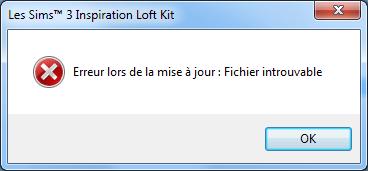 """""""Erreur lors de la mise a jour : fichier introuvable Sans_t13"""