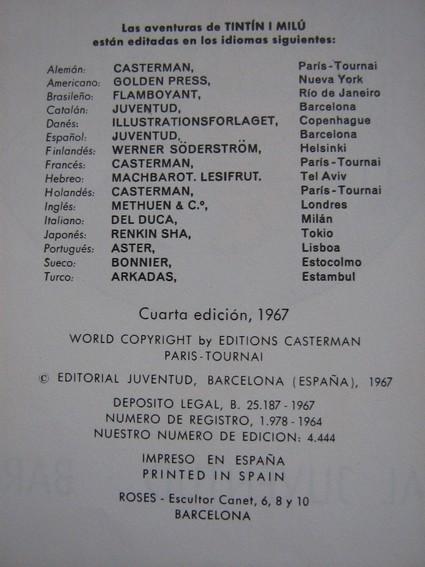 tintin en espagnol Tintin12