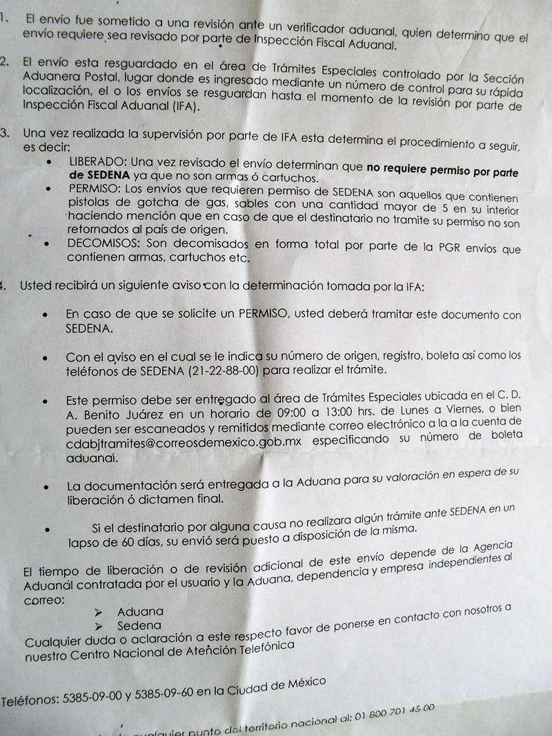 Puedo importar miras telescopicas a México? Sdc11113