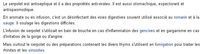 Herbes / épices et aromates Serpol11