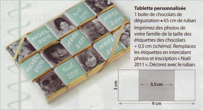 Tablette de chocolat personnalisée Tablet10