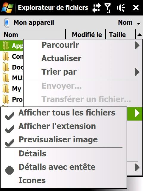 Extension explorateur de fichier Screen11