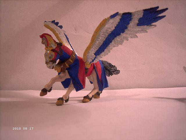Warhammer - Bretonischer Held auf Pegasus - Fertig 146
