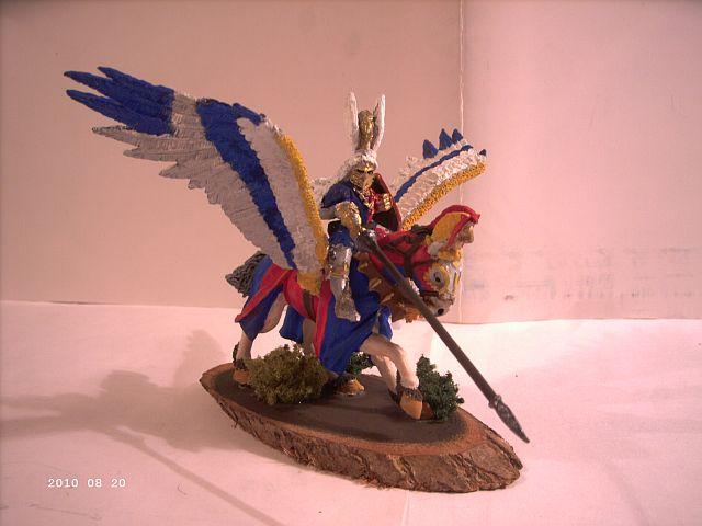 Warhammer - Bretonischer Held auf Pegasus - Fertig 147