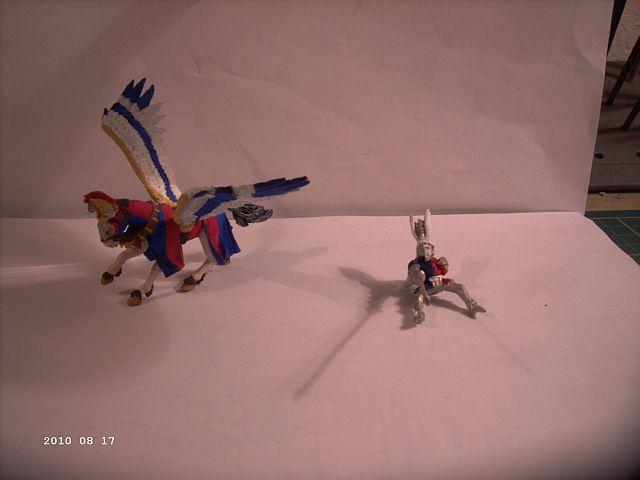 Warhammer - Bretonischer Held auf Pegasus - Fertig 245