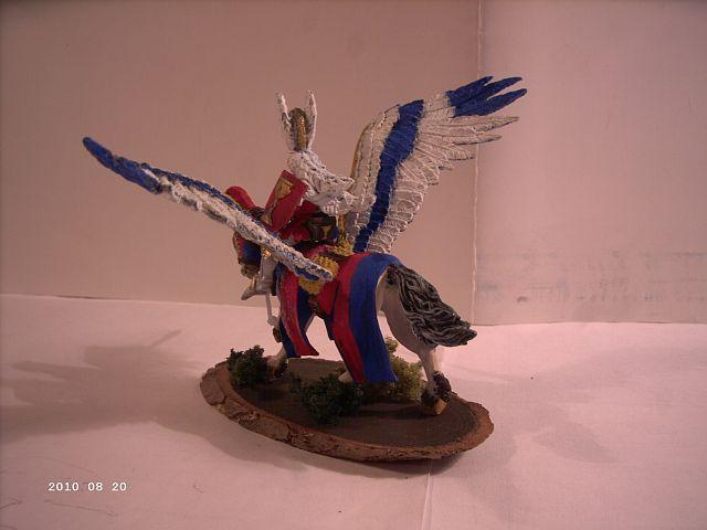Warhammer - Bretonischer Held auf Pegasus - Fertig 246